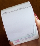 028 Rostrons Table/Room Order Pad