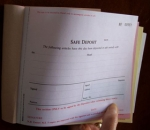 005 Triplicate NCR Numbered Safe Deposit Pad - White with Coloured copies
